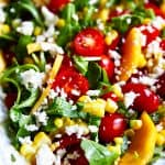 close up of Peach Tomato Salad