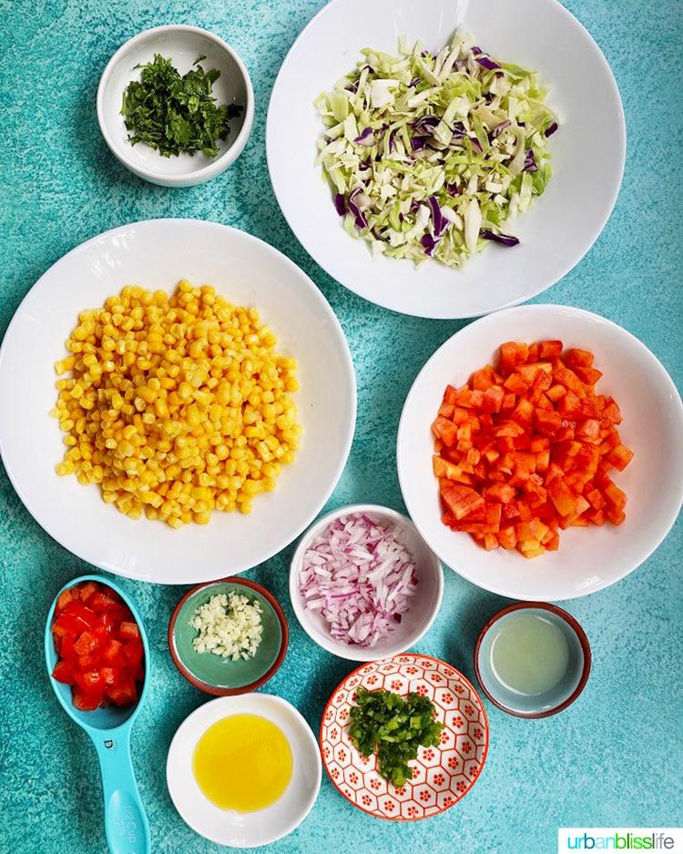 ingredients for summer slaw