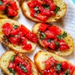 feature photo of classic tomato bruschetta with balsamic vinegar