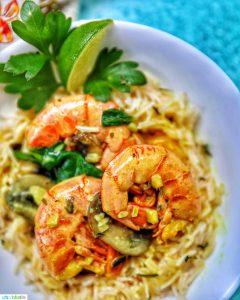 Coconut Curry Shrimp and Mushrooms