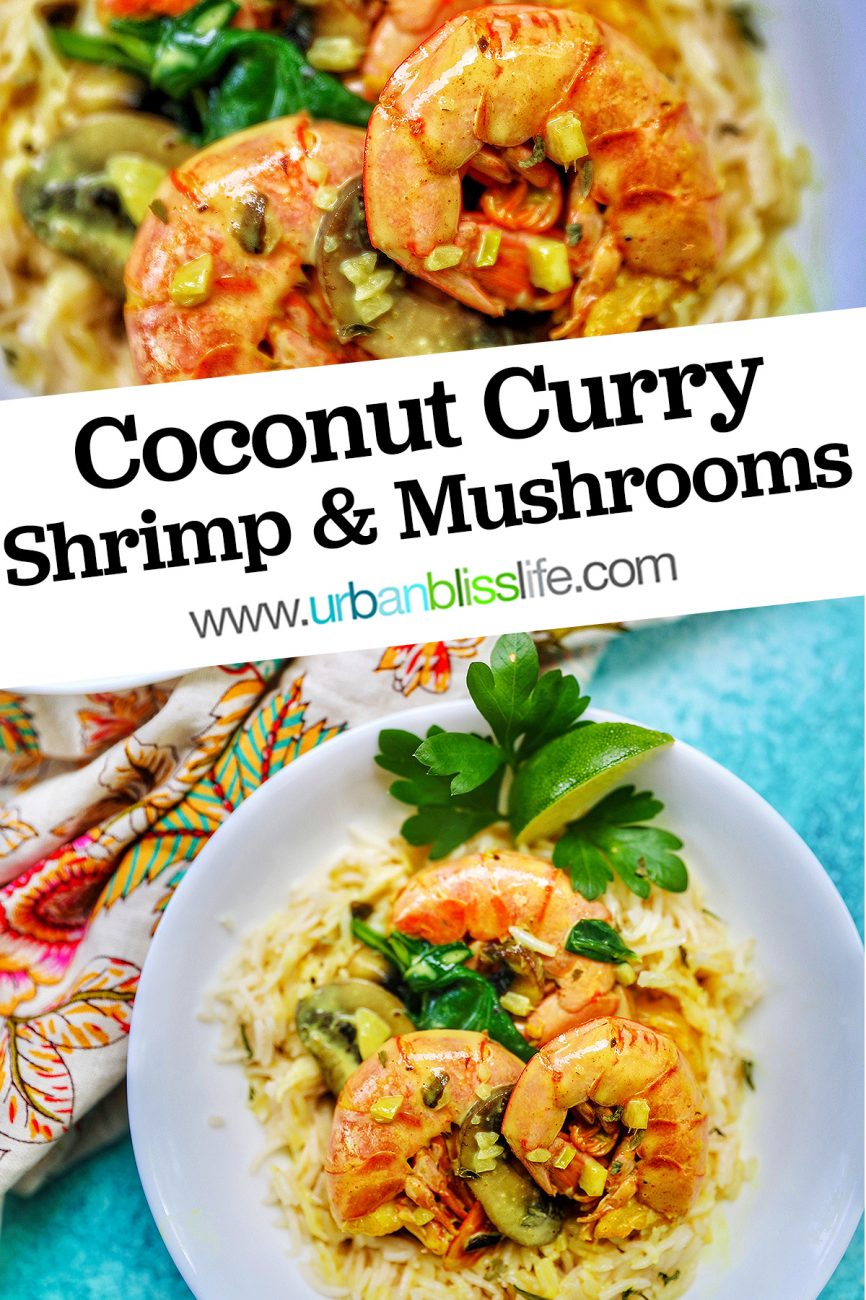 graphic for Coconut Curry Shrimp and Mushrooms
