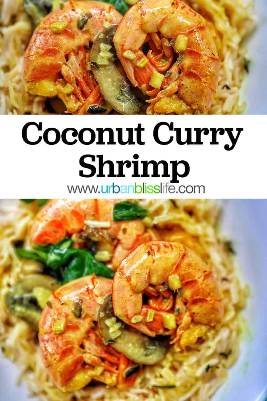 Coconut Curry Shrimp and Mushrooms