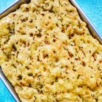 fresh pinterest image for Garlic Rosemary Focaccia Bread