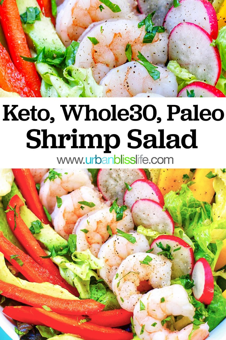 keto, whole30, paleo healthy shrimp salad