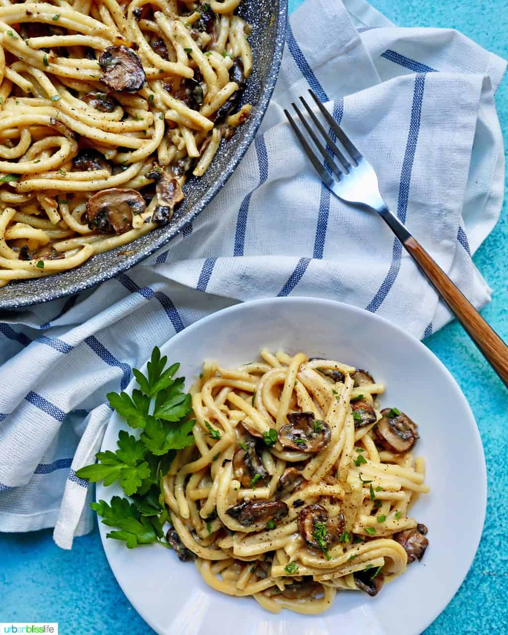 Creamy Pasta with Crispy Mushrooms FEATURE 2