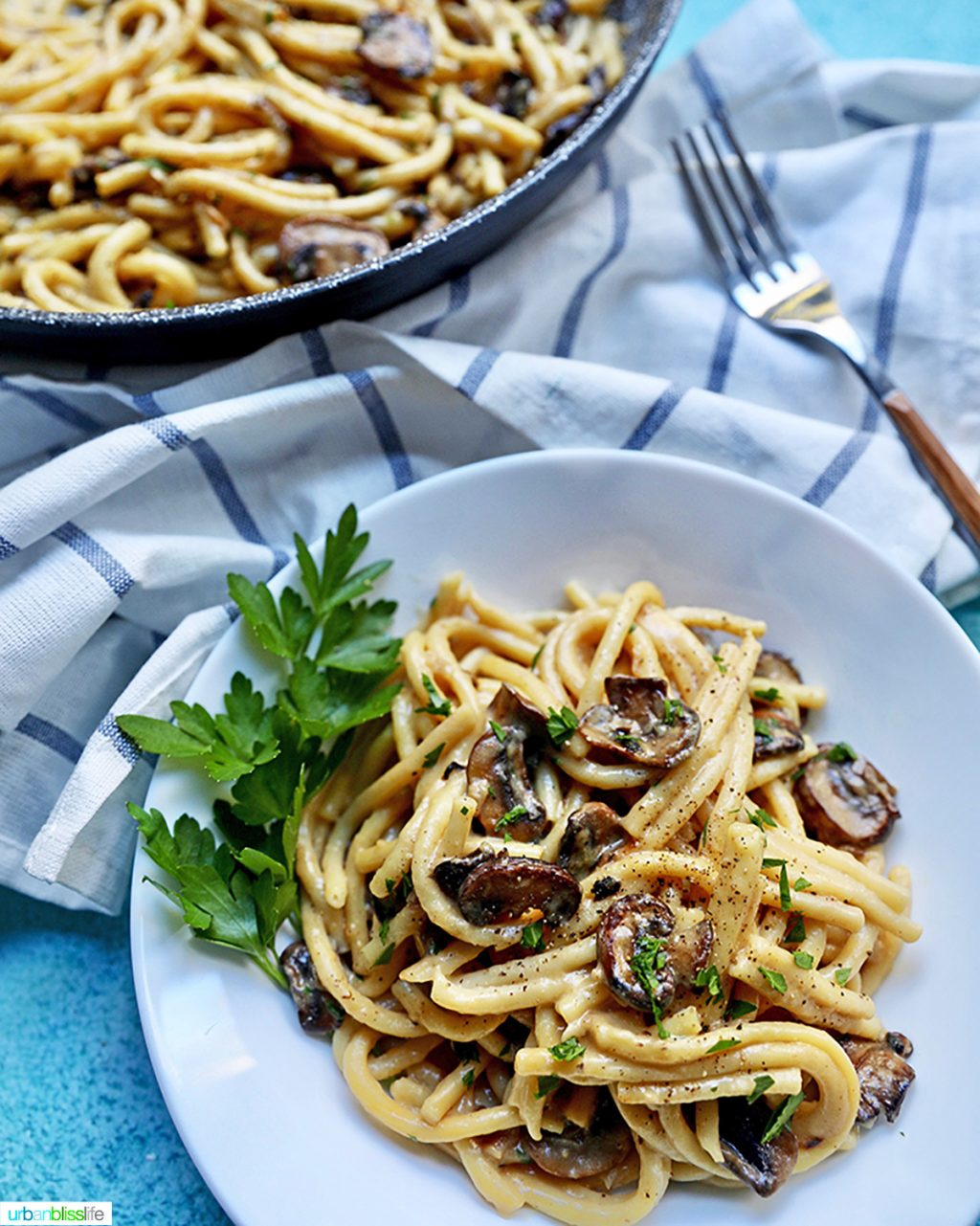 Creamy Pasta with Crispy Mushrooms FEATURE 3