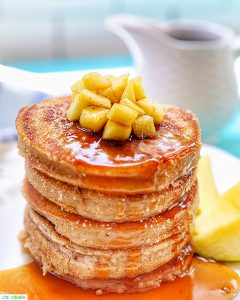 Feature photo of pple cinnamon pancakes