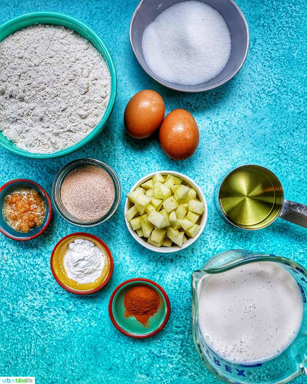ingredients for apple cinnamon pancakes