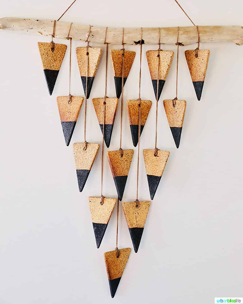 cool triangle wall hanging in the vintages mansion airstream