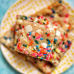 stack center Funfetti Cookie Bars