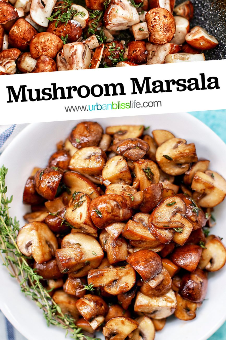 mushroom marsala closeup bowl with title text