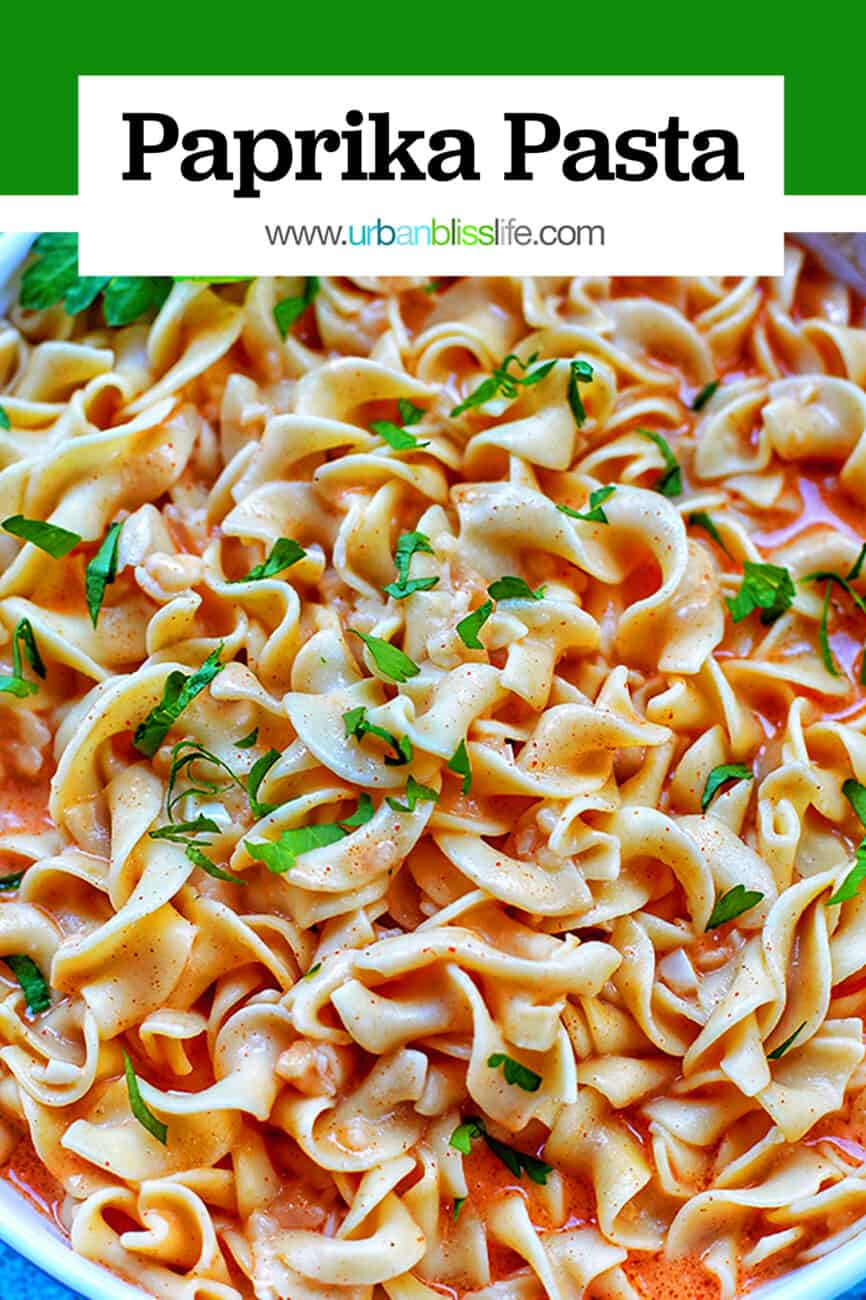 paprika pasta with title text