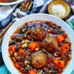 Slow Cooker Meatball Soup