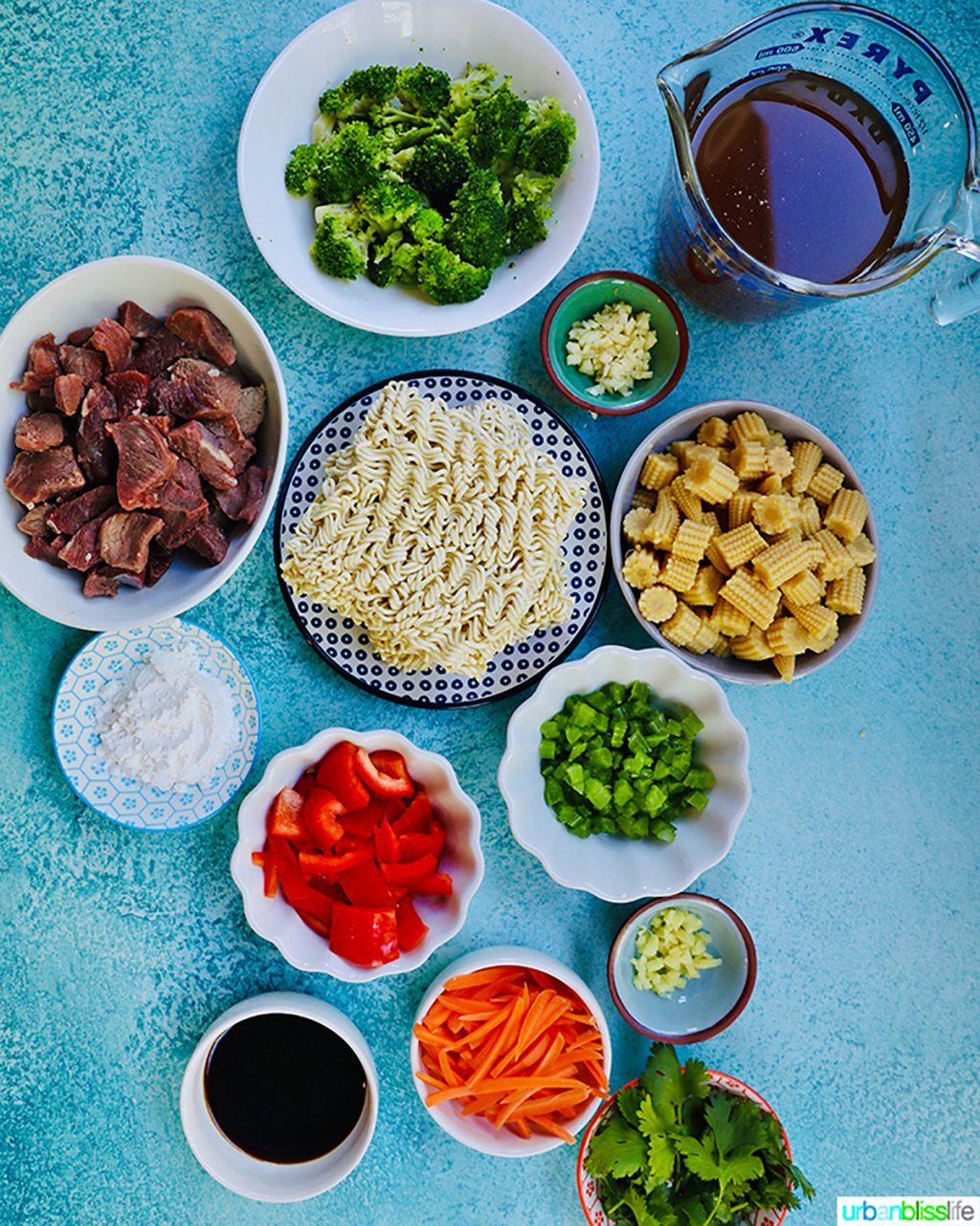 ingredients for beef lo mein noodles