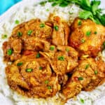 Filipino Chicken Adobo over rice, made in Instant Pot, Ninja Foodi, slow cooker