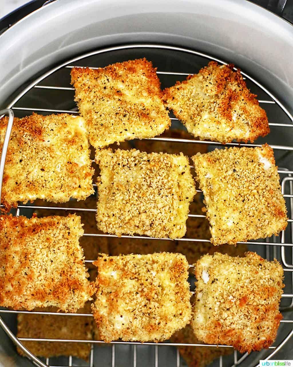 air fried ravioli in Ninja Foodi