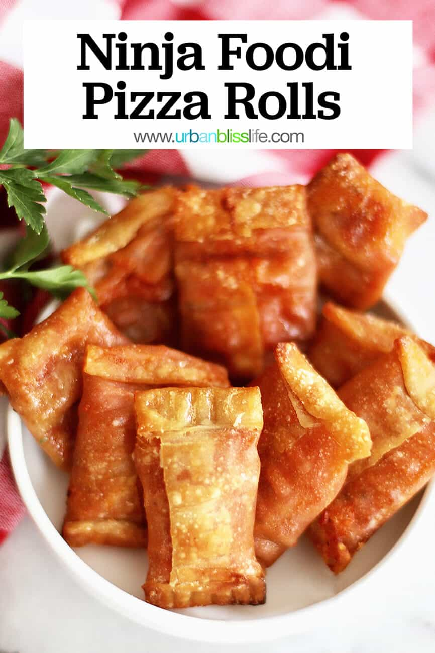 pizza rolls with text for pinterest