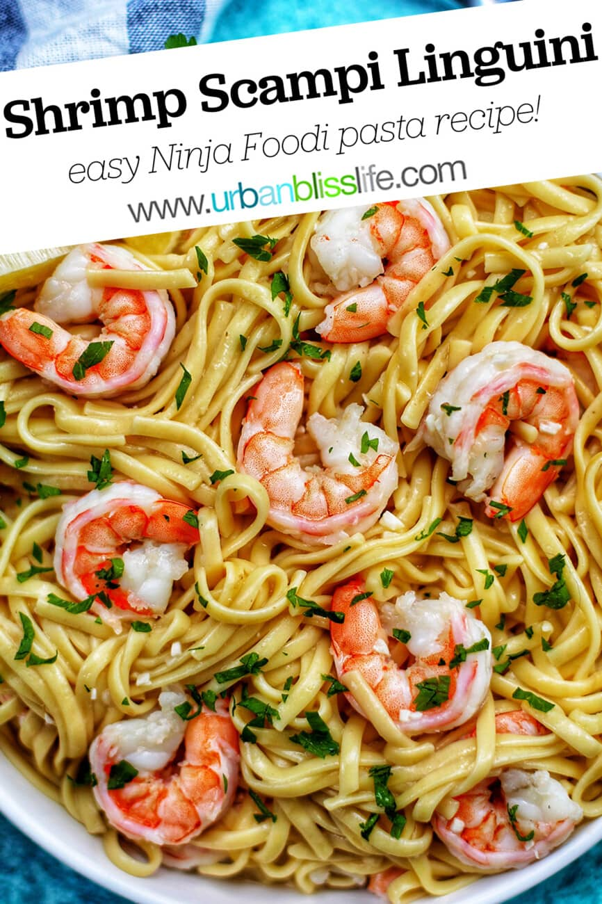 Shrimp Scampi Linguini with text