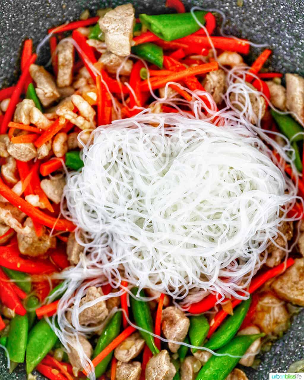 noodles and Filipino Pancit Bihon