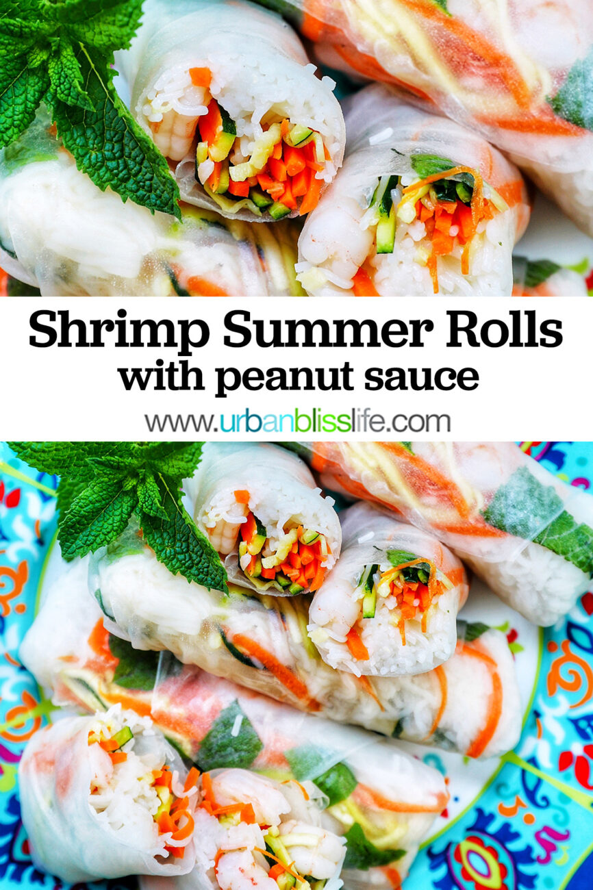 shrimp summer rolls with text
